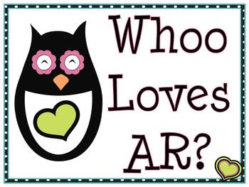 Whoo Loves AR? AR Goal Clip Chart