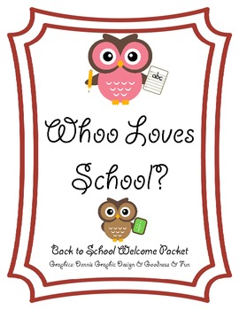 """""""Whoo"""" Loves School? {owl-themed back-to-school packet}"""