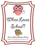 """Whoo"" Loves School? {owl-themed back-to-school packet}"