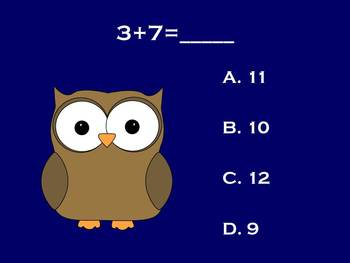 Whoo-Ray for Addition - PowerPoint Game