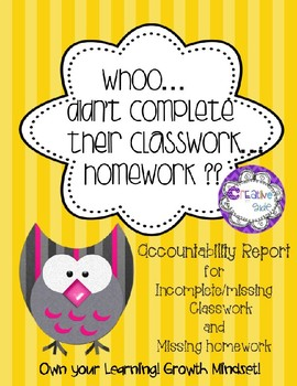 Whoo... is missing homework... is missing classwork?