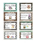 Whoo's Helping? - Rustic Owl Classroom Job Labels