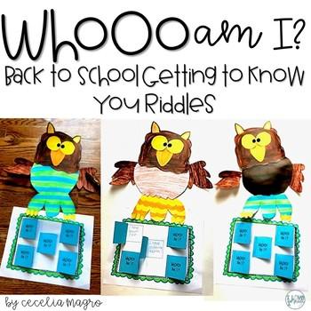 Whooo Am I? Riddle Craftivity Freebie