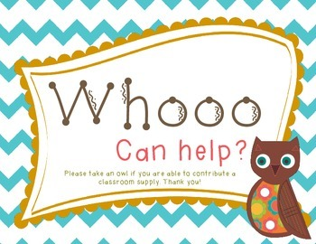 Wish List Owl Themed: Whoooo Can Help?