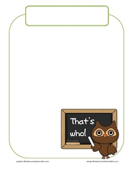 """Whooo"" Comes to Preschool? A Class Book"