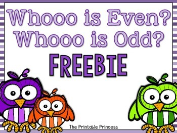 Whooo Is Even? Whooo Is Odd? FREEBIE!