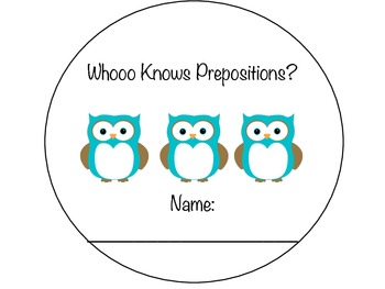 Whooo Knows Prepositions?