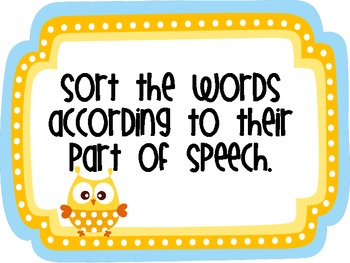 Whooo Knows the Parts of Speech