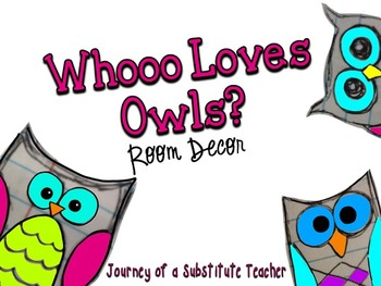 Whooo Loves Owls? Room Decor Pack (polka dot)