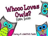 Whooo Loves Owls? Room Decor Pack (polka dot)