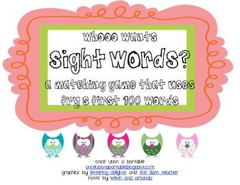 Whooo Wants Sight Words?