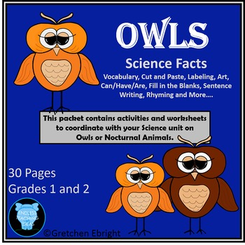 Whooo Wants to Learn About Owls?? - Science Packet