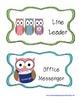 Whooo Wants to be a Helper?  12 Owl Themed Classroom Jobs