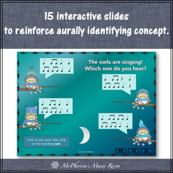 Eighth Notes Interactive Rhythm Game {Whooo do you hear?}