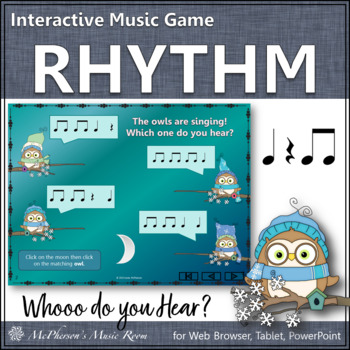 Whooo do you hear? Interactive Rhythm Game (Eighth Notes)