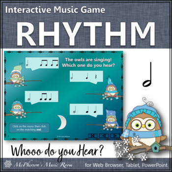 Whooo do you hear? Interactive Rhythm Game (Half Notes)