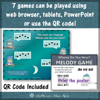 Interactive Melody Games Melody Bundle {Whooo do you hear?}