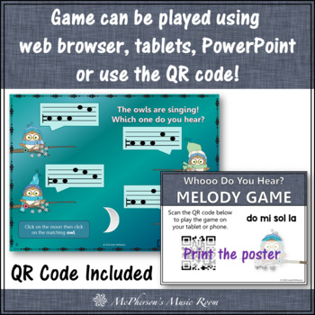 Whooo do you hear? Interactive Melody Game (Do Mi Sol La)