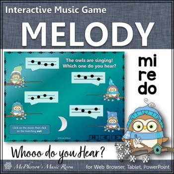 Whooo do you hear?  Interactive Melody Game (Do Re Mi)