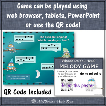 Whooo do you hear? Interactive Melody Game (Do Re Mi Sol La)