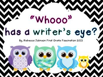 """Whooo"" has a writer's eye? Chevron Writing Posters"