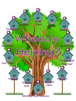 Whooo's Helping Class Job Chart