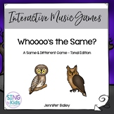 Whooo's the Same?  An Interactive Tonal Pattern Game