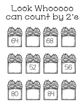 Whoooo Can Count by Two