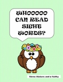 Whoooo Can Read Sight Words & Games