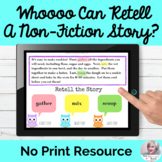 Story Retell Sequences NO PRINT Speech Therapy   Distance