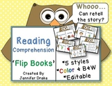 'Whoooo' Can Retell The Story?  Reading Comprehension Flip Books  ~CC Aligned!