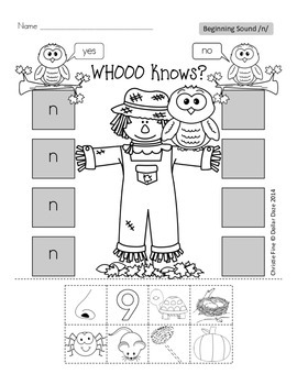 Whoooo Knows? Letter Sound..N or Not N