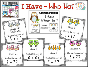 Whoooo Knows The Addition Double Facts?