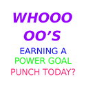 Whoooo's Earning a Power Goal Punch Today?