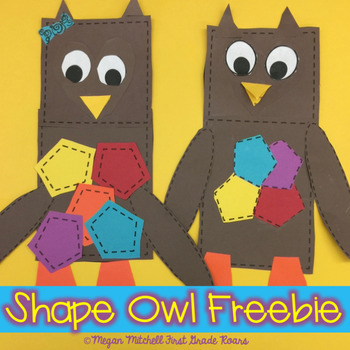 whoooos learning about shapes an owl craft freebie