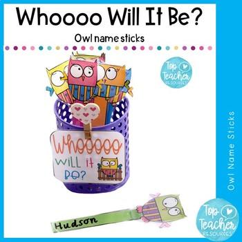 Whoooo will it be name sticks -editable