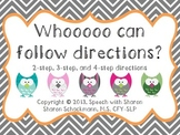 Whooooo Can Follow Directions?