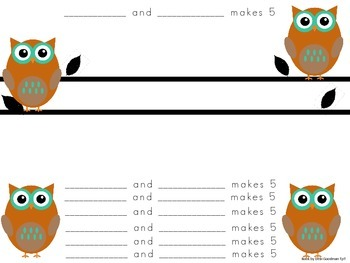 Whooooo Knows How to Make 5 with a Rekenrek?-decomposing 5