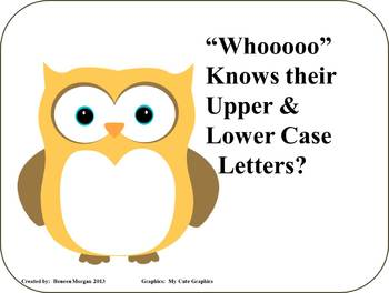 """Whooooo"" Knows their Upper & Lower Case Letters?"
