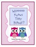 Whoooooo Knows Their Blends? Valentine Game