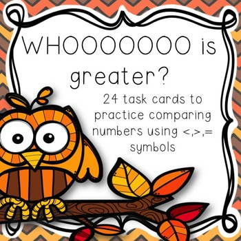 Whoooooo is Greater? Comparing Numbers Task Cards