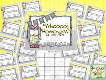 Homonym - Multiple Meaning Word Task Cards
