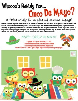 Whoooo's Ready for Cinco De Mayo?  {a festive language activity}