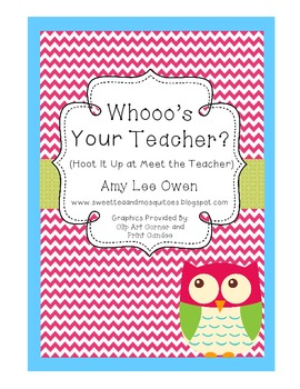 Whoooo's Your Teacher (Meet the Teacher Night)
