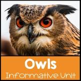 Owls Nonfiction Informational Text Unit