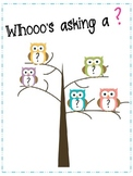 Whooo's Asking a ? Owl Poster