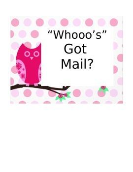 Whooo's Got Mail
