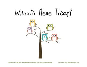 Whooo's Here Today Chart