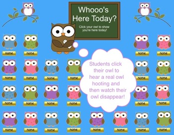 """Whooo's Here Today?"" Owl & Back to School Theme SMART Boa"