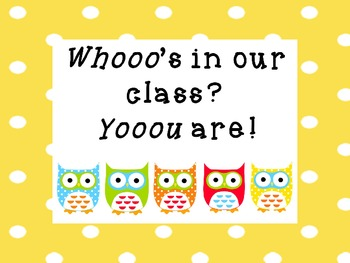 Whooo's In Our Class?